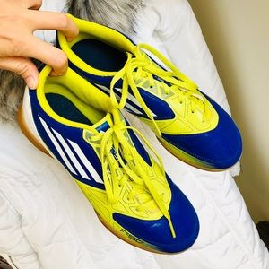 🆕 ADIDAS⚡️Navy-Neon Green F50 Athletic Shoes_8